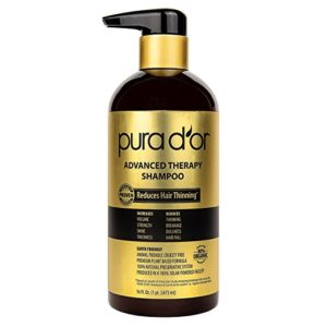 PURA D'OR Advanced Therapy Shampoo Reduces Hair Thinning